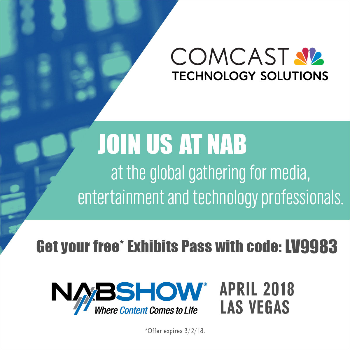Comcast Technology Solutions NAB