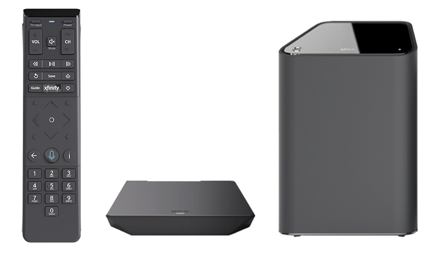 xfinity xb6 box, remote, and xi5