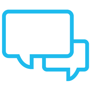cartoon speech bubble icon